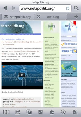 iCab Mobilel浏览器