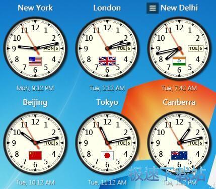 设置城市时钟教程