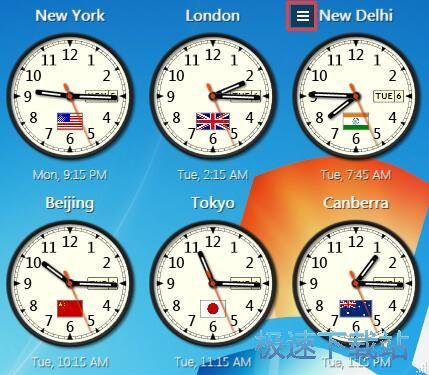 Sharp World Clock设置世界城市时钟教程_极速手机网