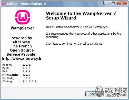 wampserver 2.1d 预览图