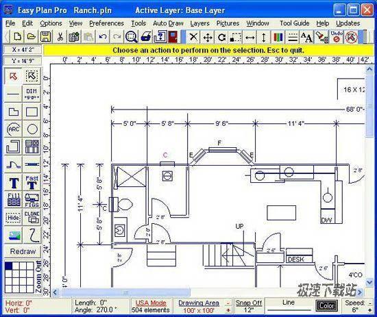 软件,主要用来快速,轻松地绘制高质量的的平面图,位置图,以及建筑设计