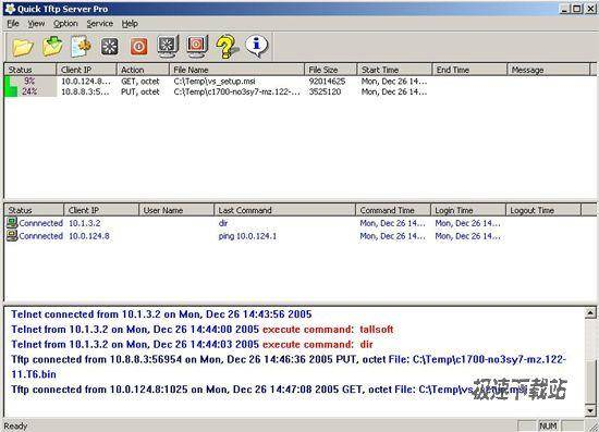 quick tftp server pro 2.1 多线程tftp服务器和telnet服务器