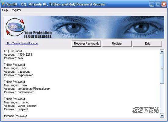 spotim password recover 1.8.8 恢��icq等im聊天工具的口令