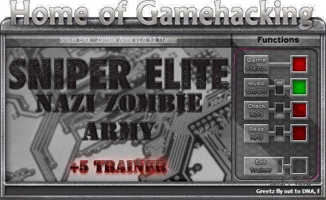 狙击精英:纳粹僵尸部队五项修改器 图片 01