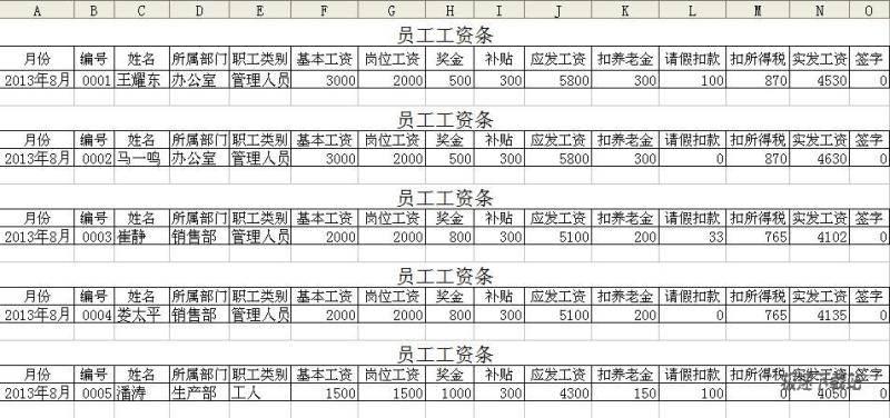 EXCEL统计报表模板打包下载 图片 01