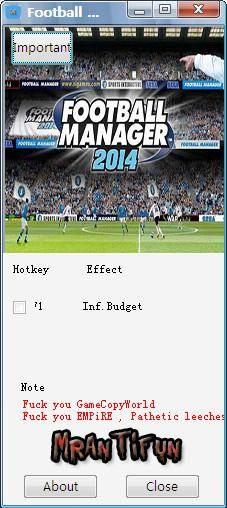 足球经理2014修改器 无限预算一项修改 14.1.3 单文件版 高清图片