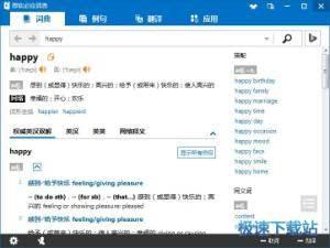 微软必应在线翻译词典 图片