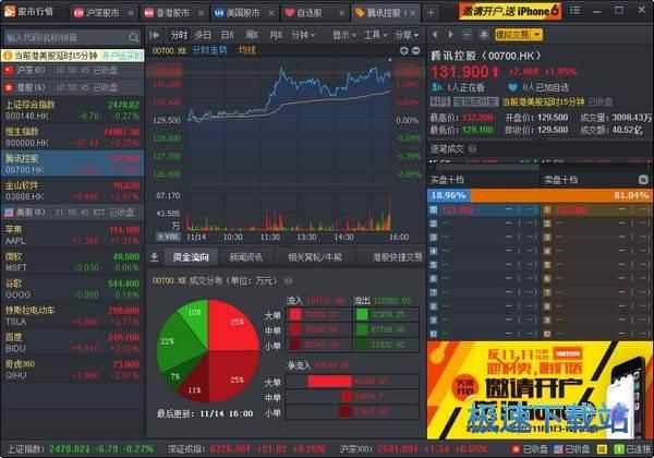 简洁港股证券交易行情软件图片