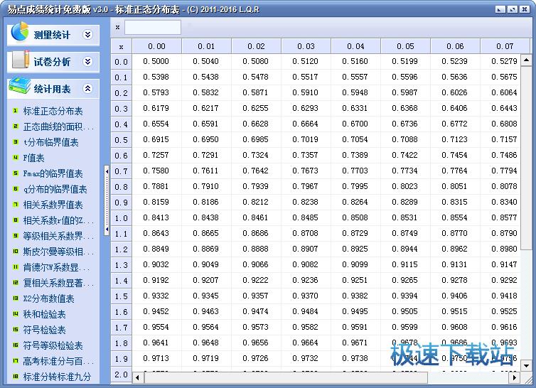 成绩统计软件