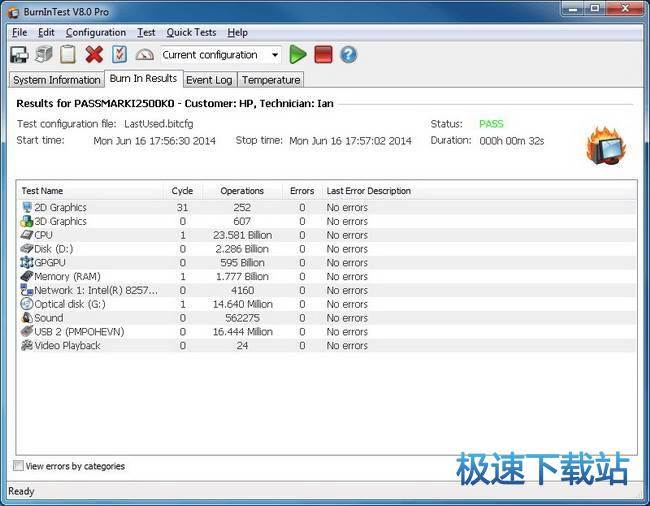 passmark burnintest图片