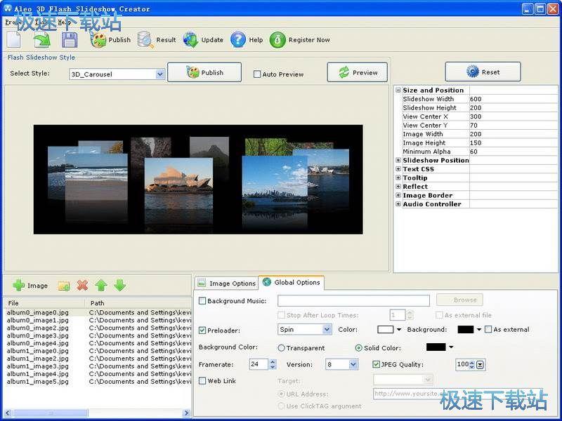 Aleo 3D Flash Slideshow Creator 图片