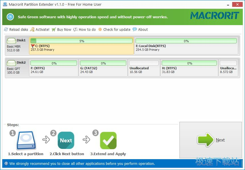Macrorit Partition Extender 图片