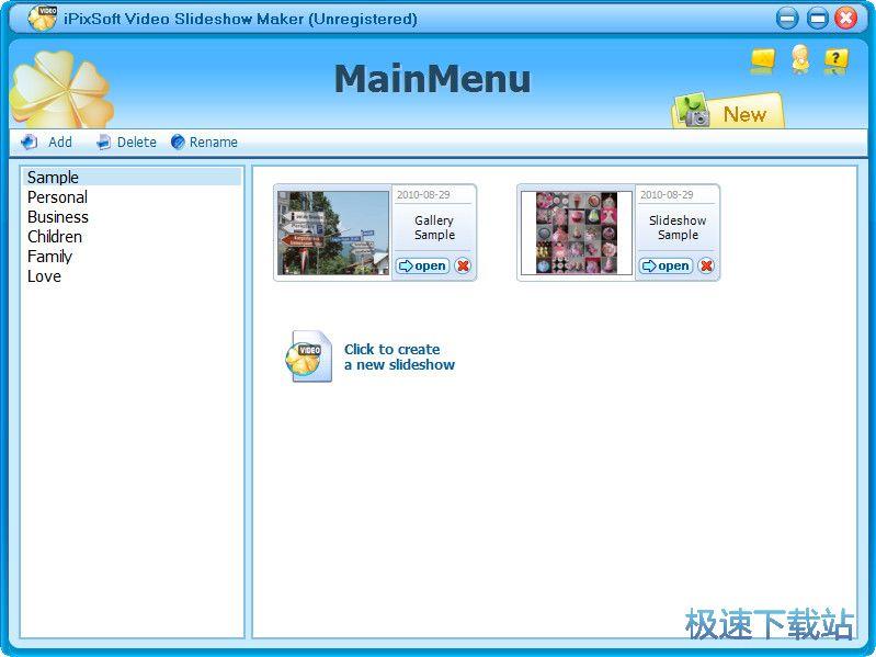 iPixSoft Video Slideshow Maker 图片 01s