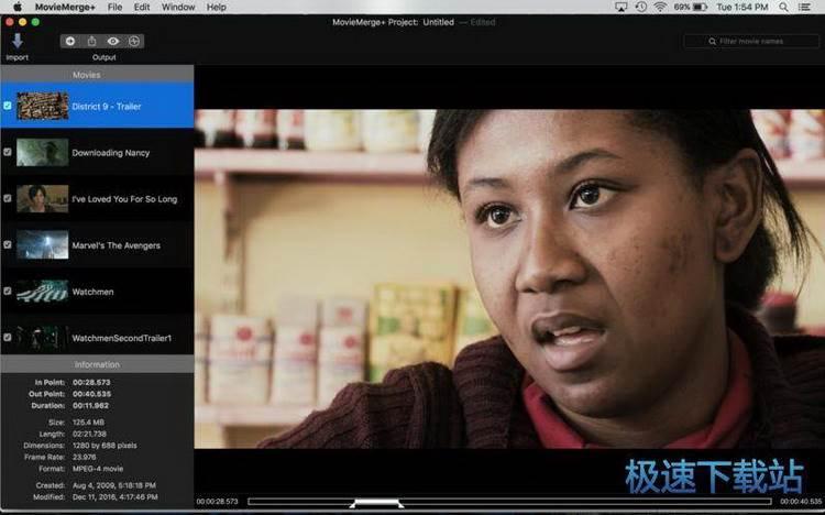 视频编辑合并成一个电影合集