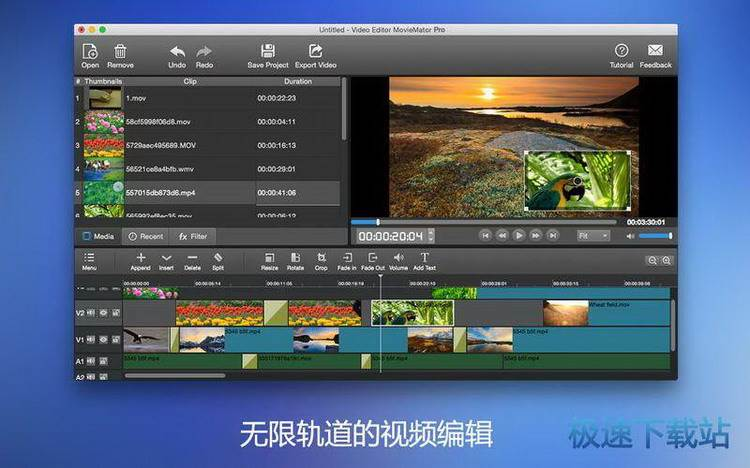 video editor moviemator mac