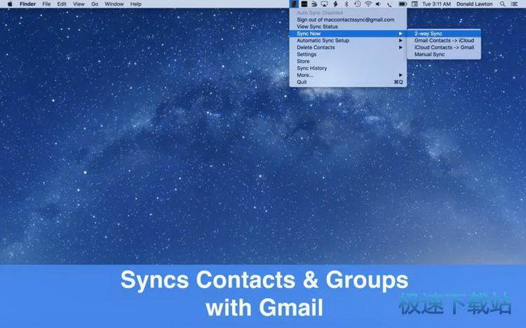 contacts sync for google gmail mac