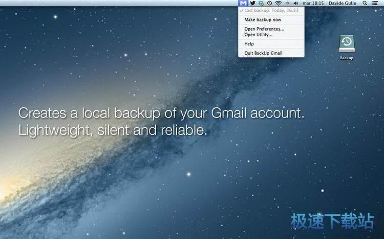 backup gmail mac