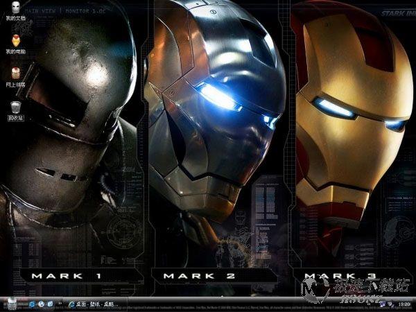 钢铁侠xp主题_钢铁侠3电脑主题钢铁侠3桌面主题【维奇】_极速下载站_电脑主题