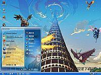 地下城与勇士梦幻塔电脑桌面主题【蓝色】