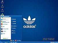 adidas三叶草电脑桌面主题【蓝色】