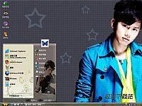 张杰超人气天王电脑桌面主题【灰色】