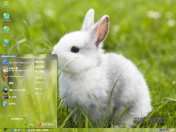 表面意思为幼小的白色的兔子.