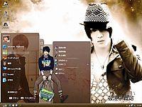 金在中韩国男歌手电脑桌面主题