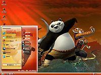 功夫熊猫2 3D电影电脑桌面主题【红色】