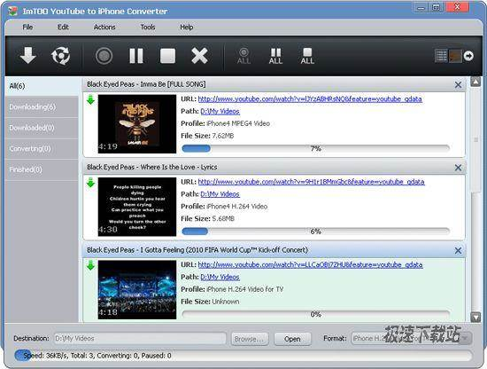 youtube converter to iphone imtoo to iphone converter 2 0 youtube到iphone 极速下载 软件下载 16534